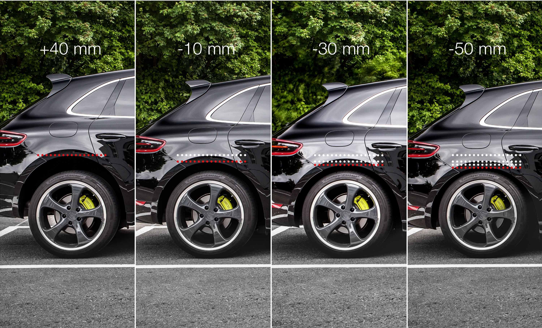 Опускание подвески на Porsche